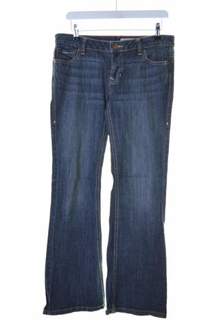 Dkny Womens Jeans W32 L30 Blue Cotton Spandex Flare