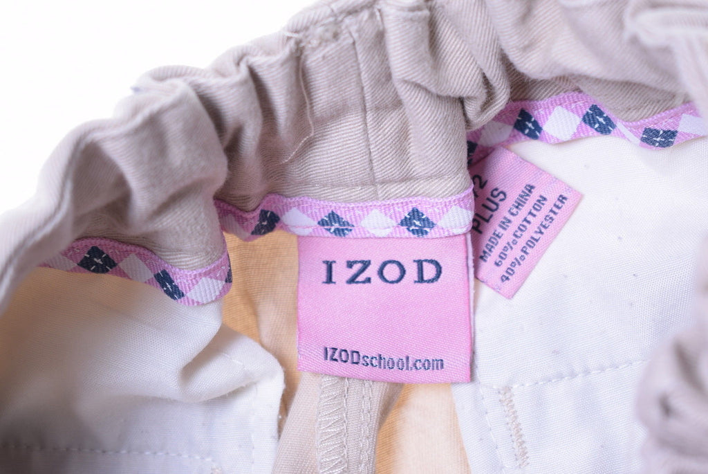 IZOD Womens Trousers W26 L26 Beige - Second Hand & Vintage Designer Clothing - Messina Hembry