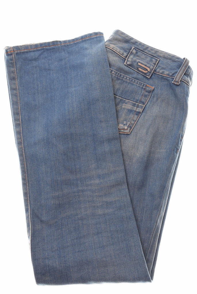DIESEL Womens Jeans W28 L31 Blue Cotton Bootcut - Second Hand & Vintage Designer Clothing - Messina Hembry