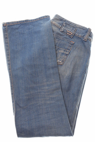 DIESEL Womens Jeans W28 L31 Blue Cotton Bootcut