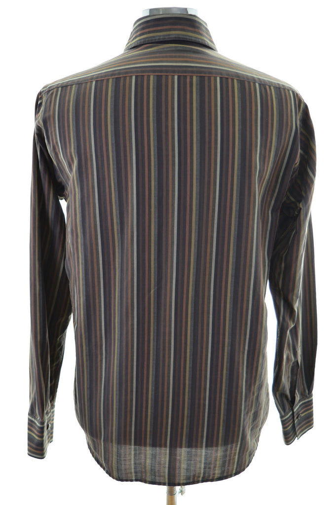 Hugo Boss Mens Shirt Size 39 15 1/2 M Multi Stripes Cotton - Second Hand & Vintage Designer Clothing - Messina Hembry