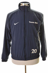 Nike Mens Tracksuit Top jacket Size 35/37 Small Navy Blue Polyester