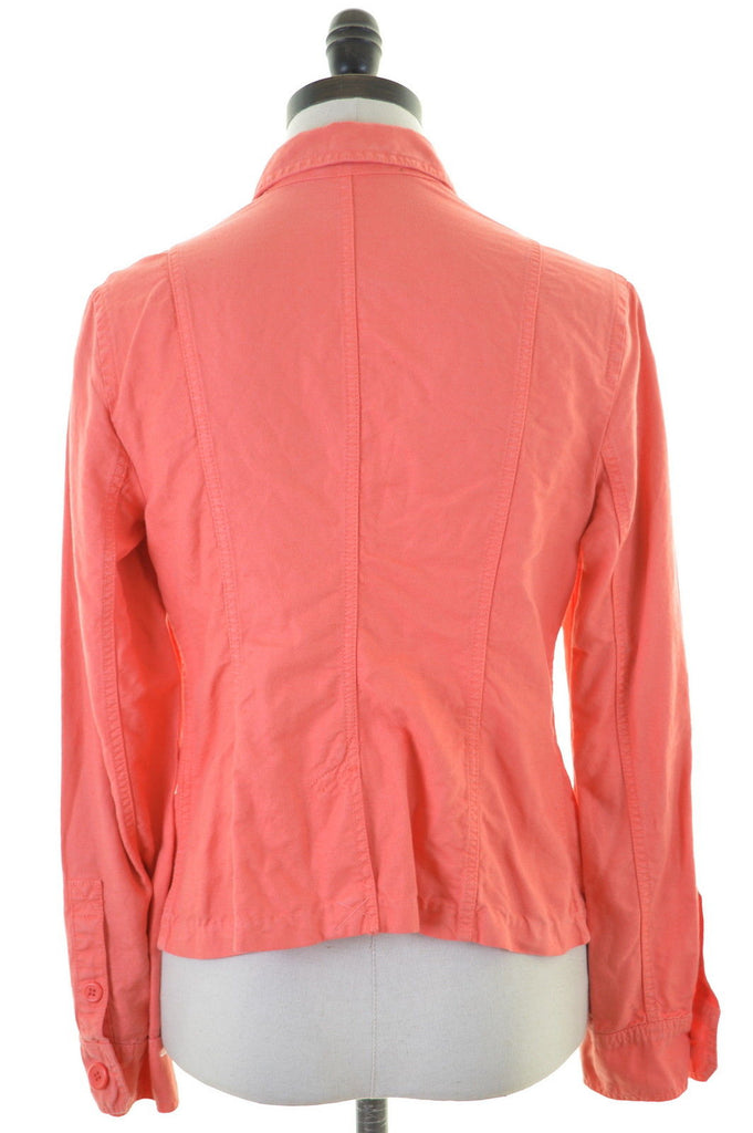 J. CREW Womens Jacket Size 10 Small Orange Linen Cotton - Second Hand & Vintage Designer Clothing - Messina Hembry