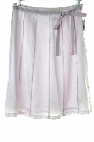 Mossimo Womens Skirt Size 2 W28 Lilac Silk Polyester