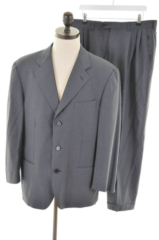 NINO CERRUTI Mens 2 Piece Suit Size 40 Medium W36 L27 Grey Wool