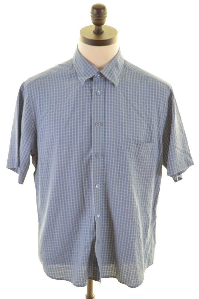 TED BAKER Mens Shirt Large Blue Cotton - Second Hand & Vintage Designer Clothing - Messina Hembry