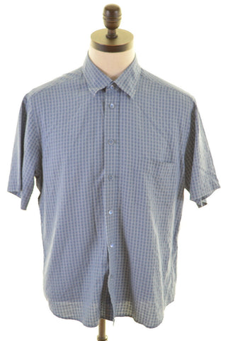 TED BAKER Mens Shirt Large Blue Cotton