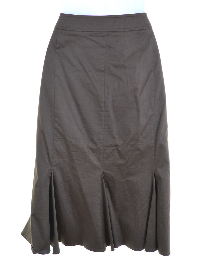MARELLA Womens Skirt W30 L25 Brown Cotton - Second Hand & Vintage Designer Clothing - Messina Hembry