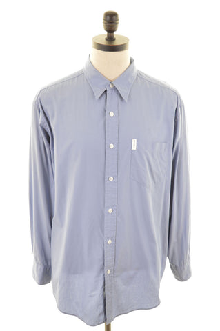 DKNY Mens Shirt Large Blue Cotton