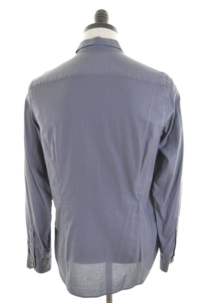 TED BAKER Mens Shirt Small Grey Cotton - Second Hand & Vintage Designer Clothing - Messina Hembry