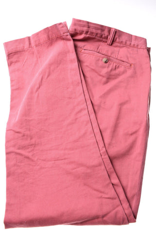 POLO RALPH LAUREN Mens Trousers W21 L32 Red Cotton Slim Fit
