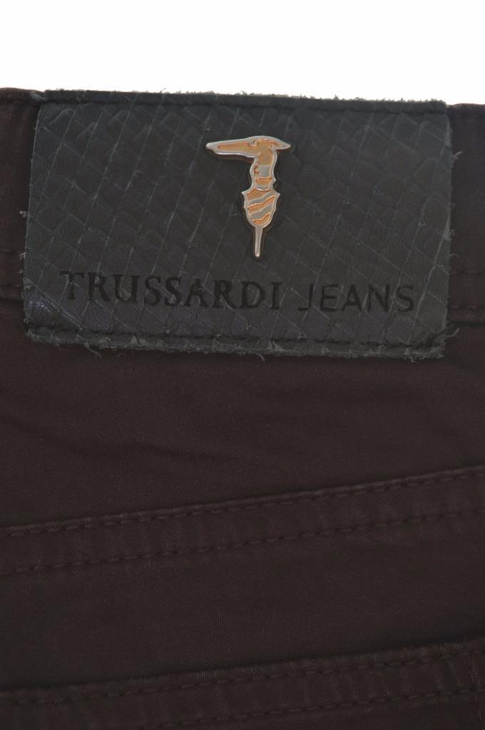 Trussardi Womens Jeans W30 L26 Brown Cotton Elastane - Second Hand & Vintage Designer Clothing - Messina Hembry