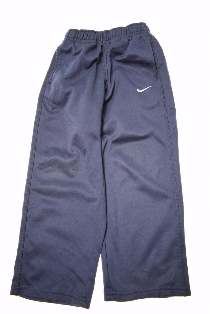 NIKE Boys Tracksuit Trousers Size 5 Medium W20 L17 Blue Polyester - Second Hand & Vintage Designer Clothing - Messina Hembry