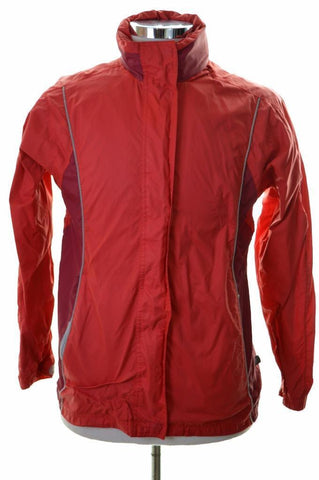 K-Way Womens Windbreaker Jacket Size 14 Medium Red Polyamide