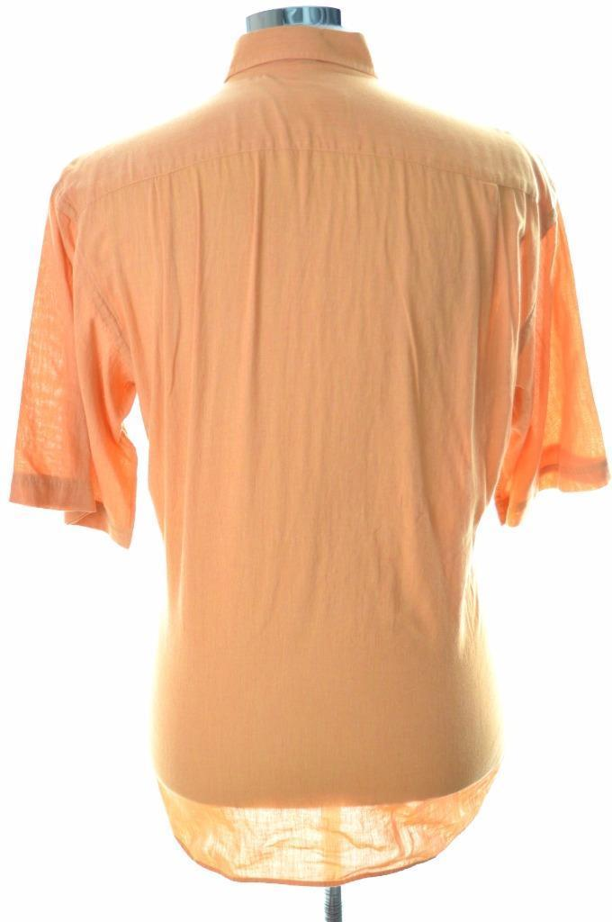Daniel Hechter Mens Shirt Medium Orange Cotton - Second Hand & Vintage Designer Clothing - Messina Hembry