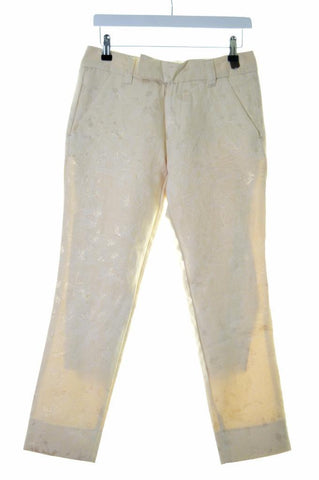 Diesel Womens Capri Trousers Jeans W27 L26 Beige Gold Polyester Cotton Skinny
