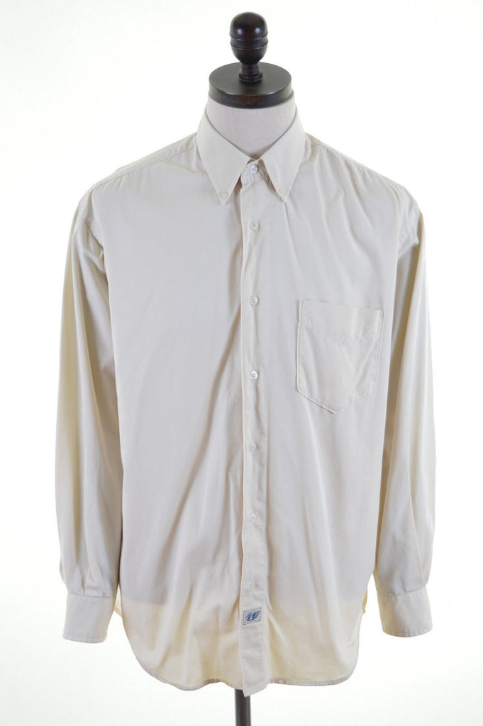 CARRERA Mens Shirt Size 42 Large Beige Cotton - Second Hand & Vintage Designer Clothing - Messina Hembry