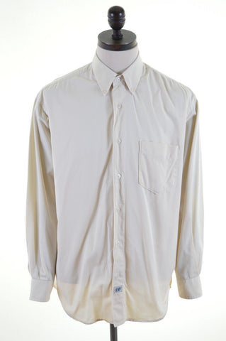CARRERA Mens Shirt Size 42 Large Beige Cotton