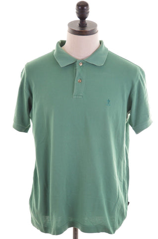 RIFLE Mens Polo Shirt Medium Green Cotton