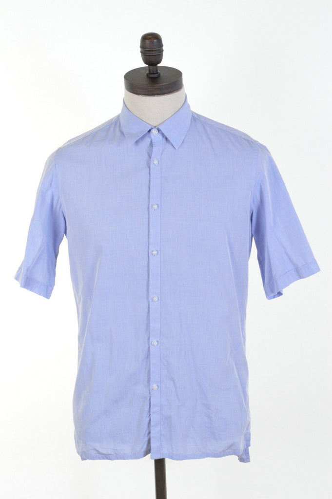 DKNY Mens Shirt Small Blue Cotton - Second Hand & Vintage Designer Clothing - Messina Hembry