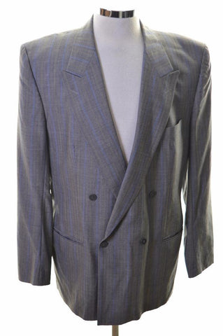 Hugo Boss Mens Blazer Jacket Size 42 Large Grey Stripes New Wool Viscose