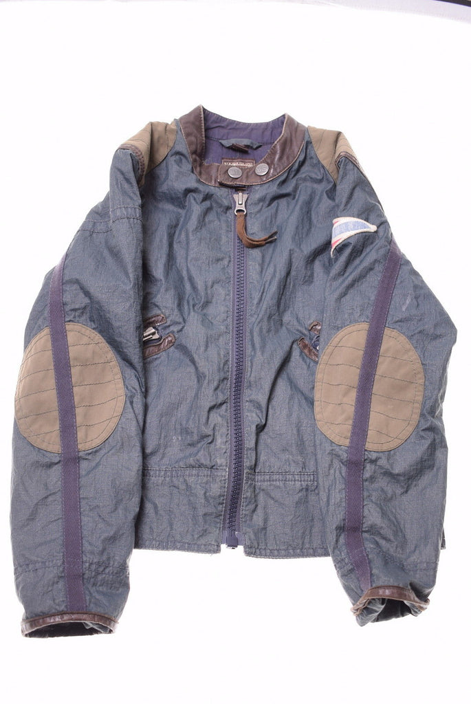 NAPAPIJRI Boys Jacket Size 8 Small Grey Brown Polyamide - Second Hand & Vintage Designer Clothing - Messina Hembry