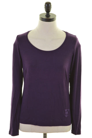 FERRE Womens Top Long Sleeve Size 6 XS Purple Viscose