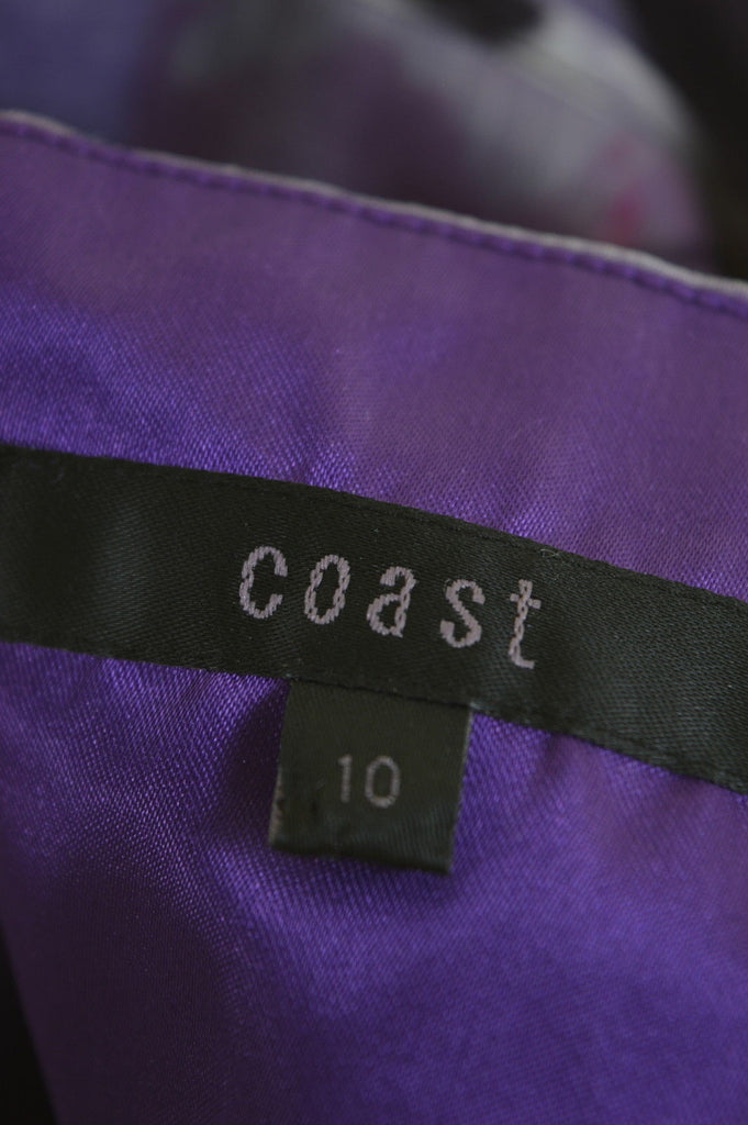 COAST Womens Strapless Dress Size 10 Small Multi Acetate - Second Hand & Vintage Designer Clothing - Messina Hembry