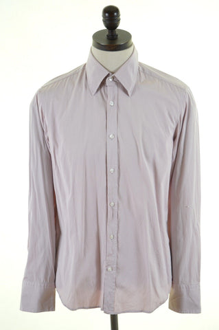 HUGO BOSS Mens Shirt Medium Pink Cotton