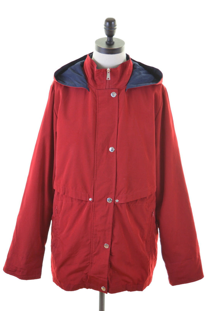 NAUTICA Womens Jacket Size 14 Medium Red Polyester - Second Hand & Vintage Designer Clothing - Messina Hembry