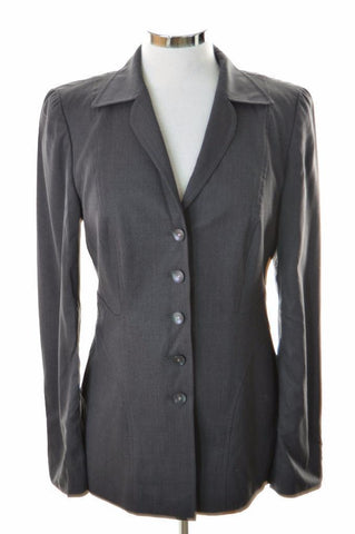 Escada Womens Blazer Jacket Size 36 Small Grey Rayon Elastane