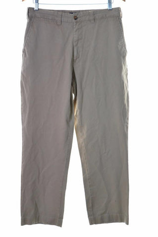 Tommy Hilfiger Mens Trousers W33 L30 Beige Cotton Slim