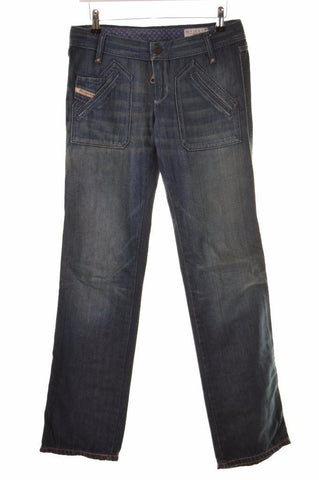 Diesel Womens Jeans W27 L32 Blue Cotton Bootcut