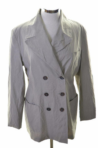 Joop Womens Blazer Jacket Size 14 Medium Grey Stripes