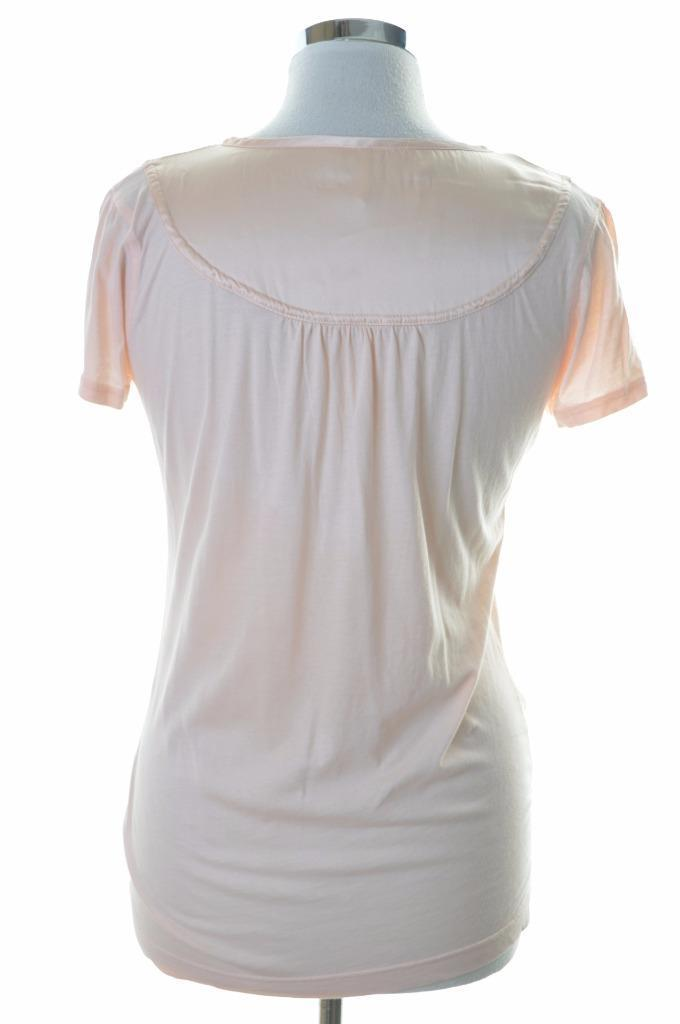 Whistler Womens Top T-Shirt Size 4 Large Pink Cotton Slim Fit - Second Hand & Vintage Designer Clothing - Messina Hembry