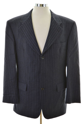 Hugo Boss Mens Blazer Jacket Size 38 Medium Blue Stripes Wool
