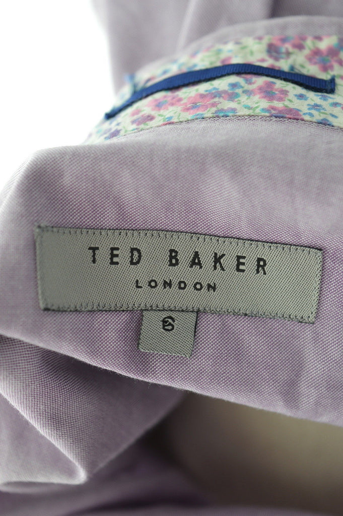 TED BAKER Mens Shirt Large Purple Cotton - Second Hand & Vintage Designer Clothing - Messina Hembry