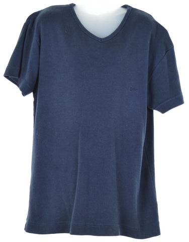 LEE Girls T-Shirt Top Size 14 Large Blue Cotton