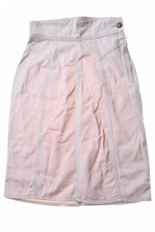 BENETTON Womens Denim Skirt W24 Beige Cotton