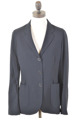 JIGSAW Womens Blazer Jacket Size 12 Medium Black Viscose