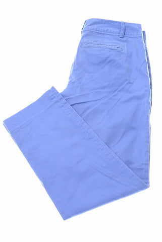 BANANA REPUBLIC Womens Capri Trousers W30 L25 Blue Cotton