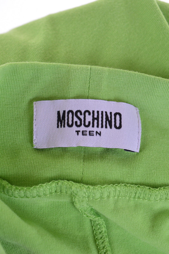 MOSCHINO Boys Trousers Size 3 Medium Green Cotton - Second Hand & Vintage Designer Clothing - Messina Hembry