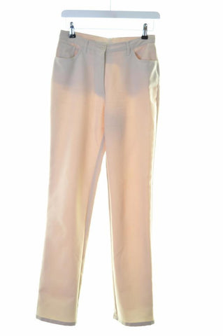 United Colors Of Benetton Womens Trousers W26 L30 Beige Polyester Straight