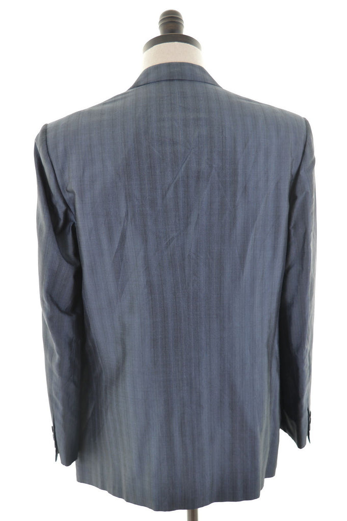VALENTINO Mens Blazer Jacket Size 42 Large Silver Check Viscose - Second Hand & Vintage Designer Clothing - Messina Hembry
