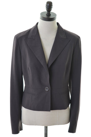 MAX MARA Womens Blazer Jacket Size 10 Small Brown Wool Loose Fit