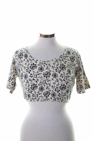 Rifle Womens Crop Top XL White Floral