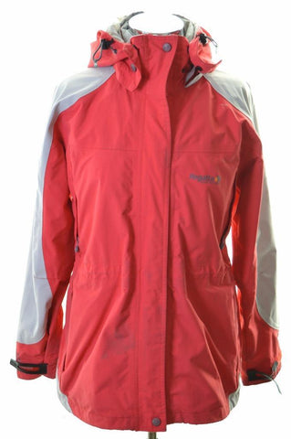 Regatta Womens Windbreaker Jacket Size 14 Medium Red Polyamide Polyester