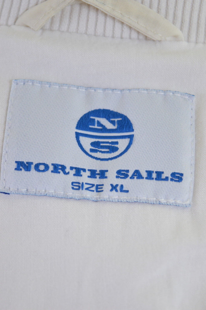 NORTH SAILS Womens Jacket Size 18 XL White Cotton - Second Hand & Vintage Designer Clothing - Messina Hembry
