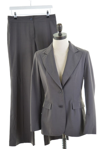JOSEPH Womens 2 Piece Suit Size 12 Medium W30 L33 Grey Polyester