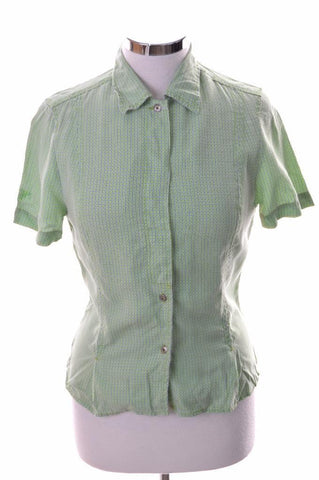 Joop Womens Shirt Small Green Check Lyocell